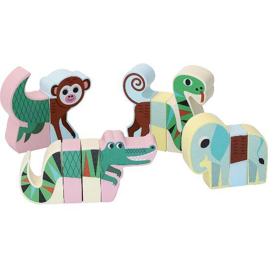 Vilac Drevené magnetické puzzle Zvieratká džungle