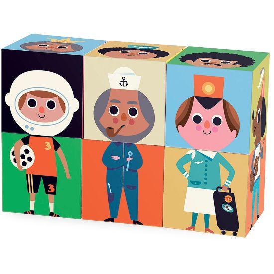 Vilac Zábavné drevené kocky Postavičky